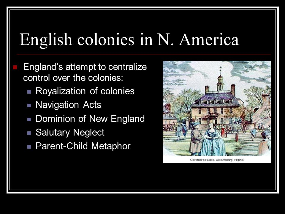 English colonies in N.
