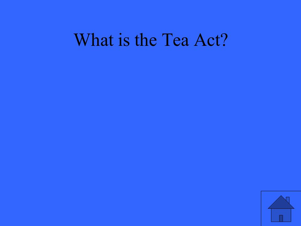 What is the Tea Act