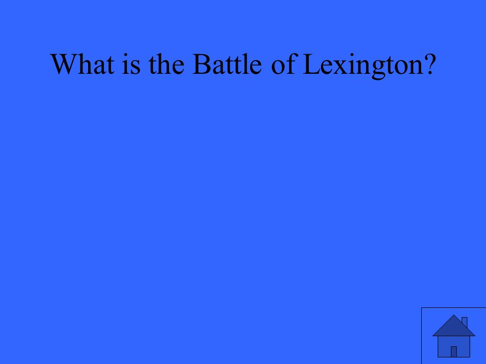 What is the Battle of Lexington