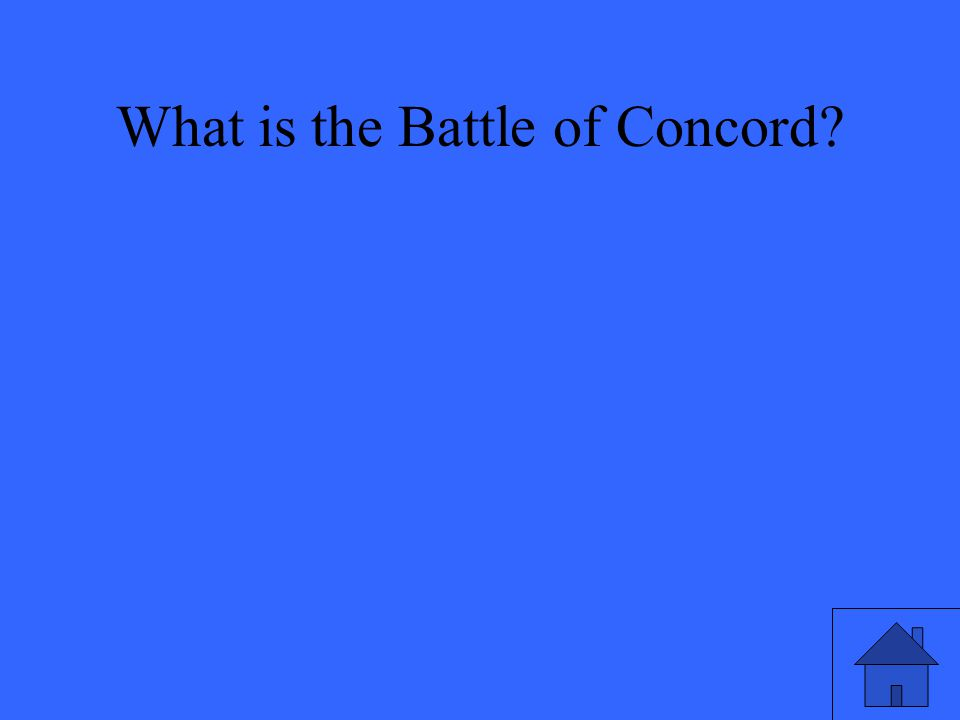 What is the Battle of Concord