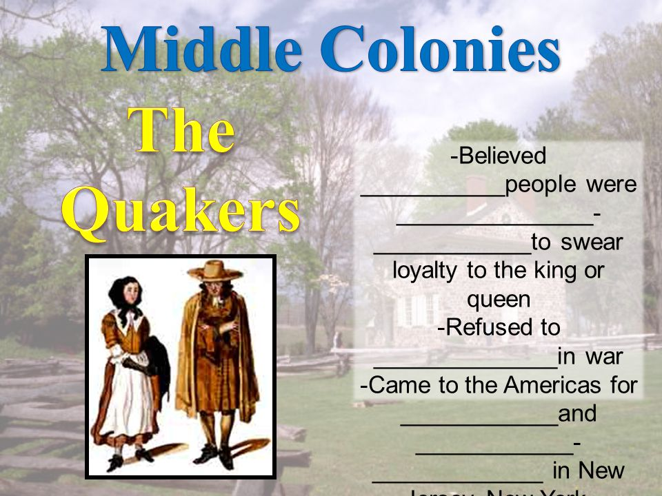 -Settlers that lived here came from many _______________places and backgrounds.