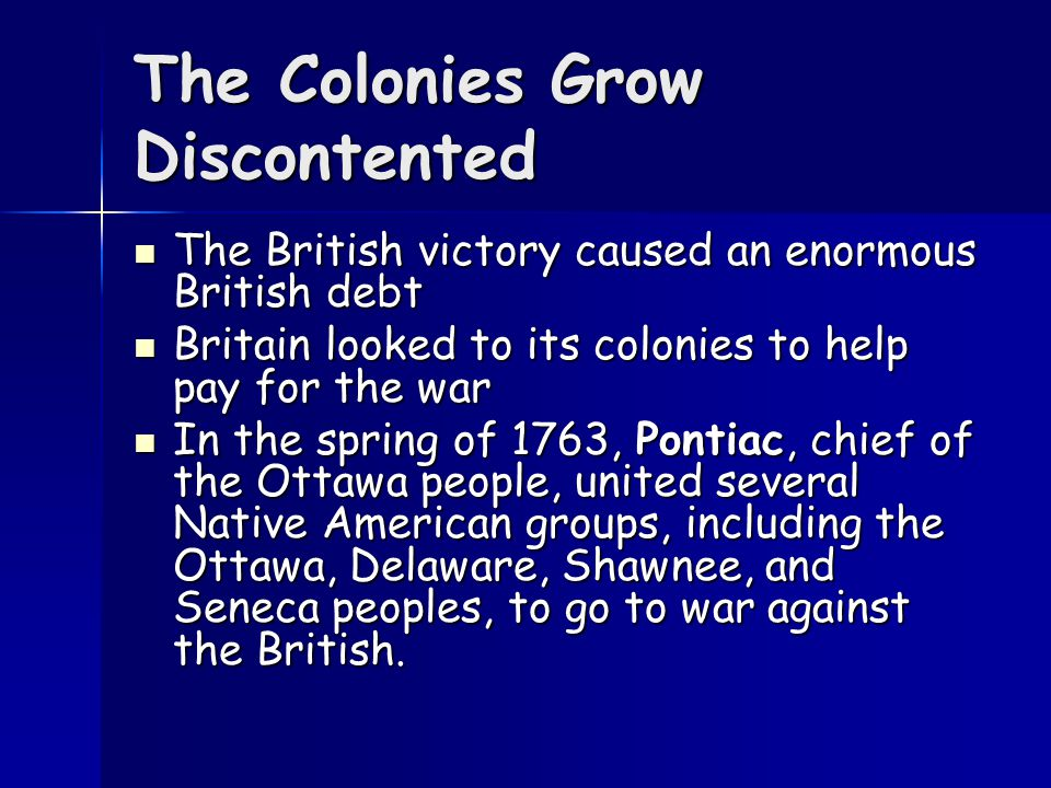 The French and Indian War Why.