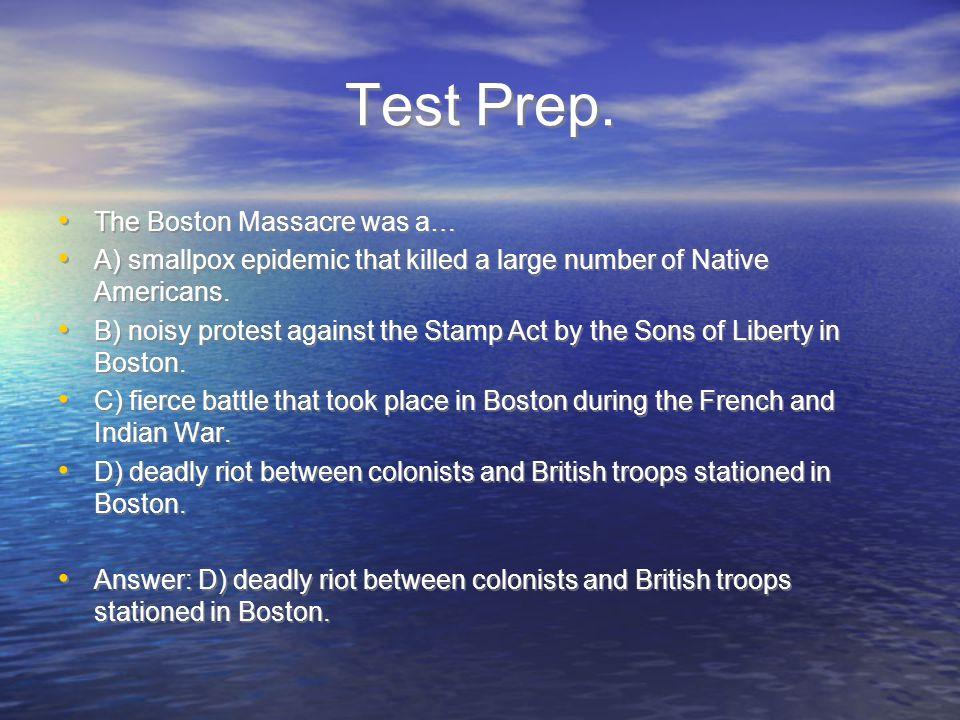 Test Prep.