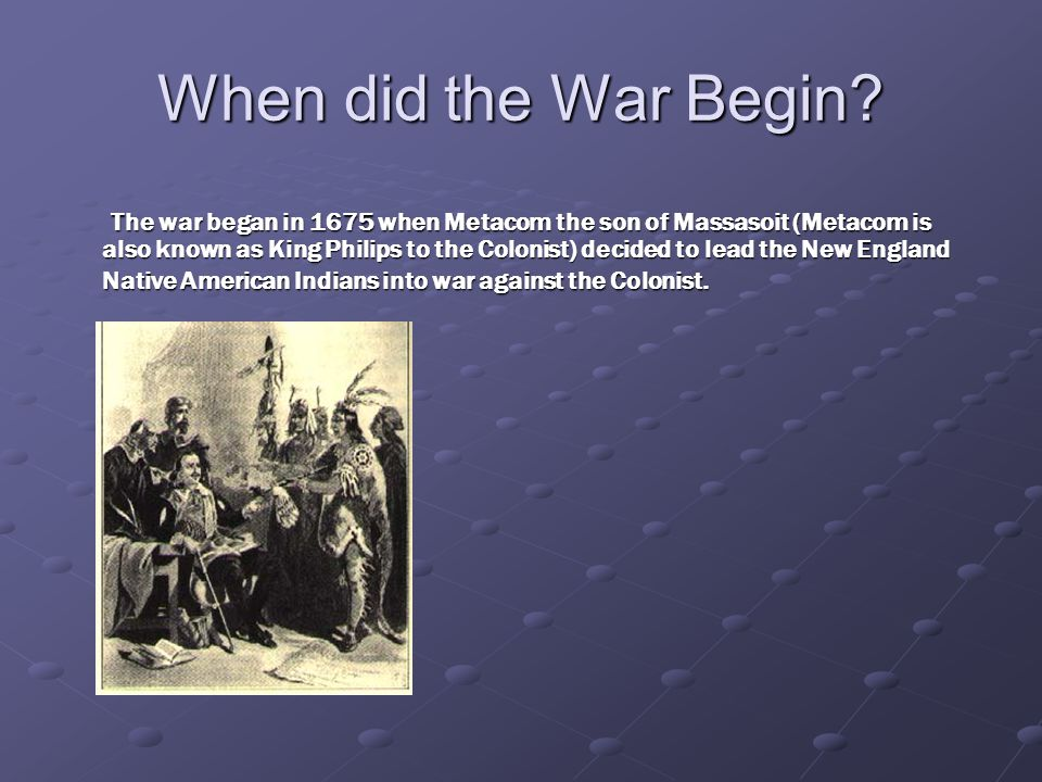 When did the War End King Philip's War ended in 1678.