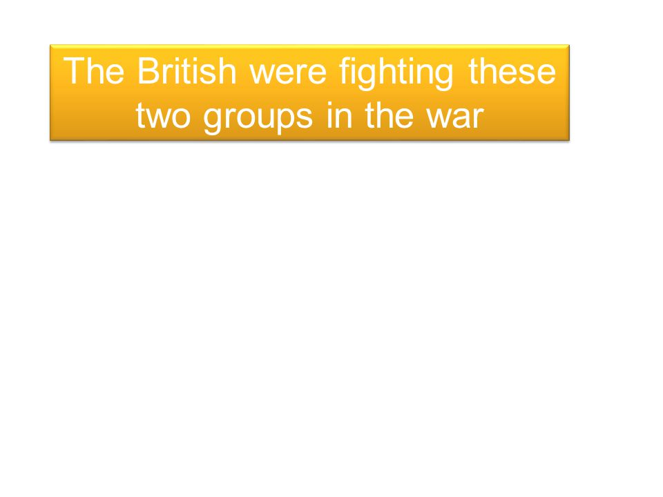 The British were fighting these two groups in the war