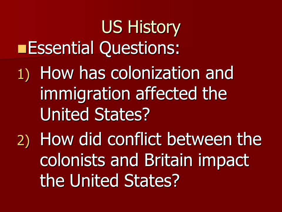 US History Timeline **1492- First Europeans led by Christopher Columbus Arrive in America 1700- England had set up 13 separate colonies **1763- British helped the colonist fight the French-Indian War 1774- The First Continental Congress meet in Philadelphia to challenge British rule.