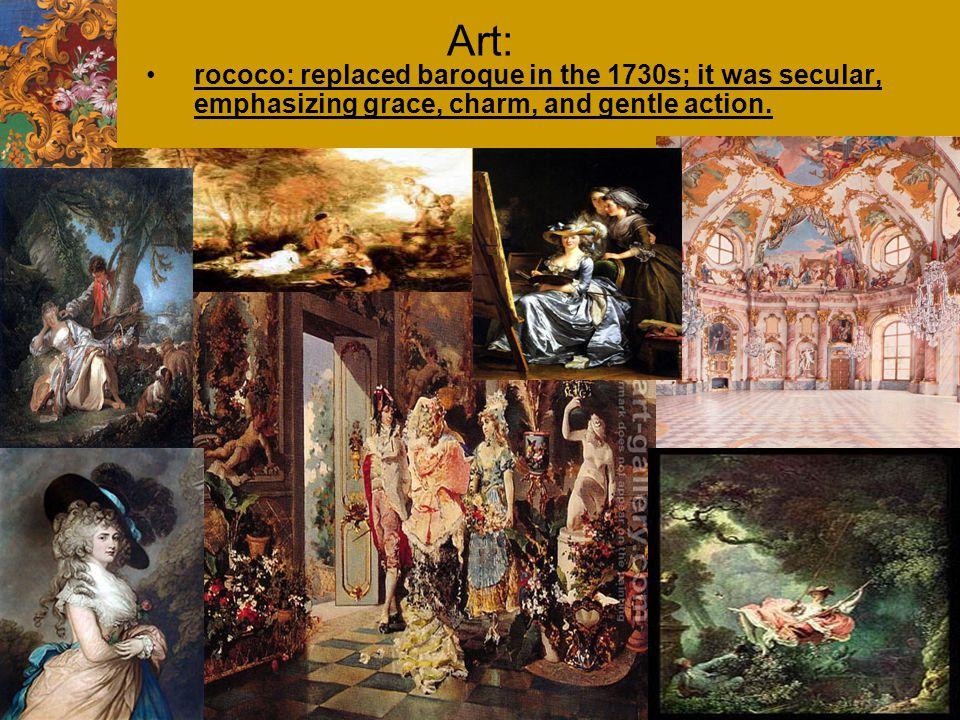 Antoine Watteau: his paintings reveal a world of upper class pleasure and joy; Danse dans un Pavillion; Gersaint's Shopsign