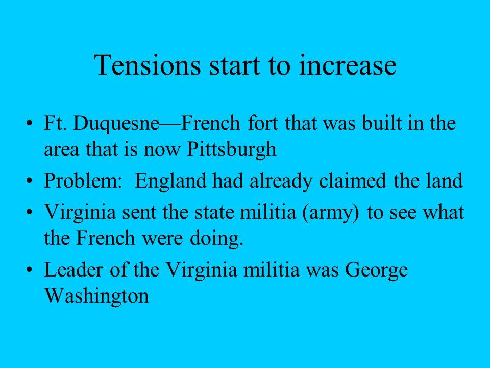 George Washington Leader of Virginia Militia Set up Ft.