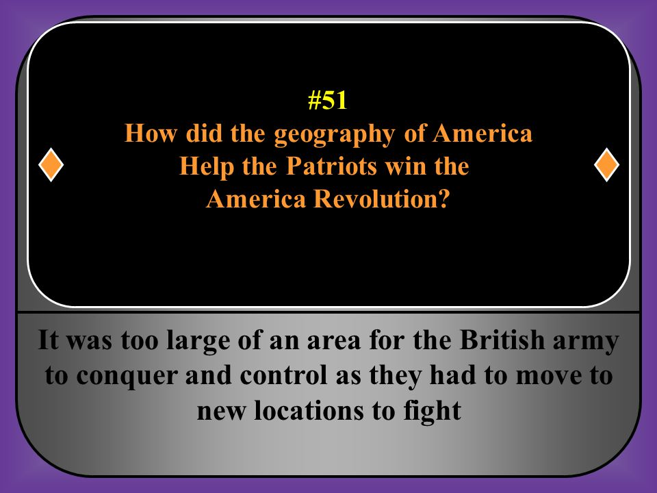 #51 How did the geography of America Help the Patriots win the America Revolution?