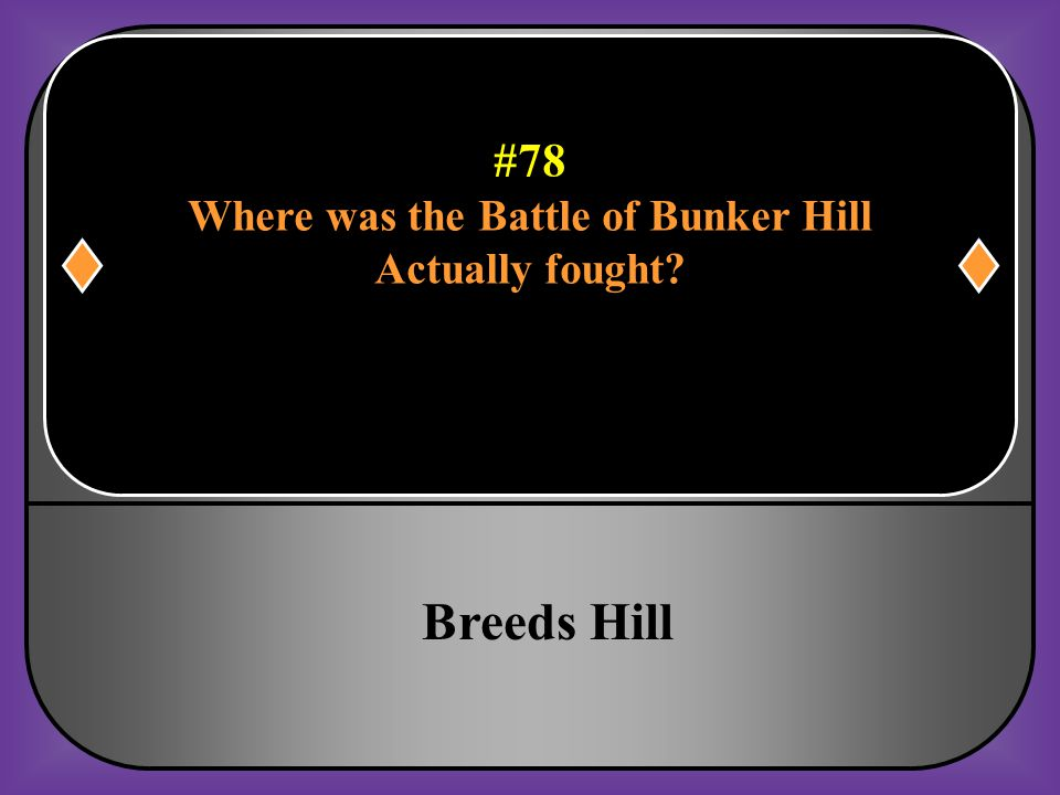 #78 Where was the Battle of Bunker Hill Actually fought?