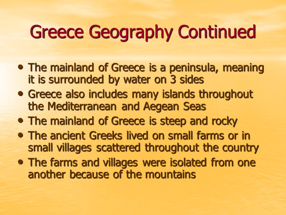 Starting Colonies As populations in Greece grew some settlements did not have enough food to feed all their people As populations in Greece grew some settlements did not have enough food to feed all their people One solution to this problem was to start a new colony One solution to this problem was to start a new colony Colonies are settlements in distant places Colonies are settlements in distant places Many Greek communities sent people over the sea to see if they could find food or places to grow food Many Greek communities sent people over the sea to see if they could find food or places to grow food These people were called colonists These people were called colonists