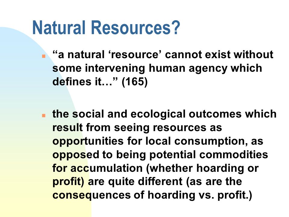 Natural Resources.