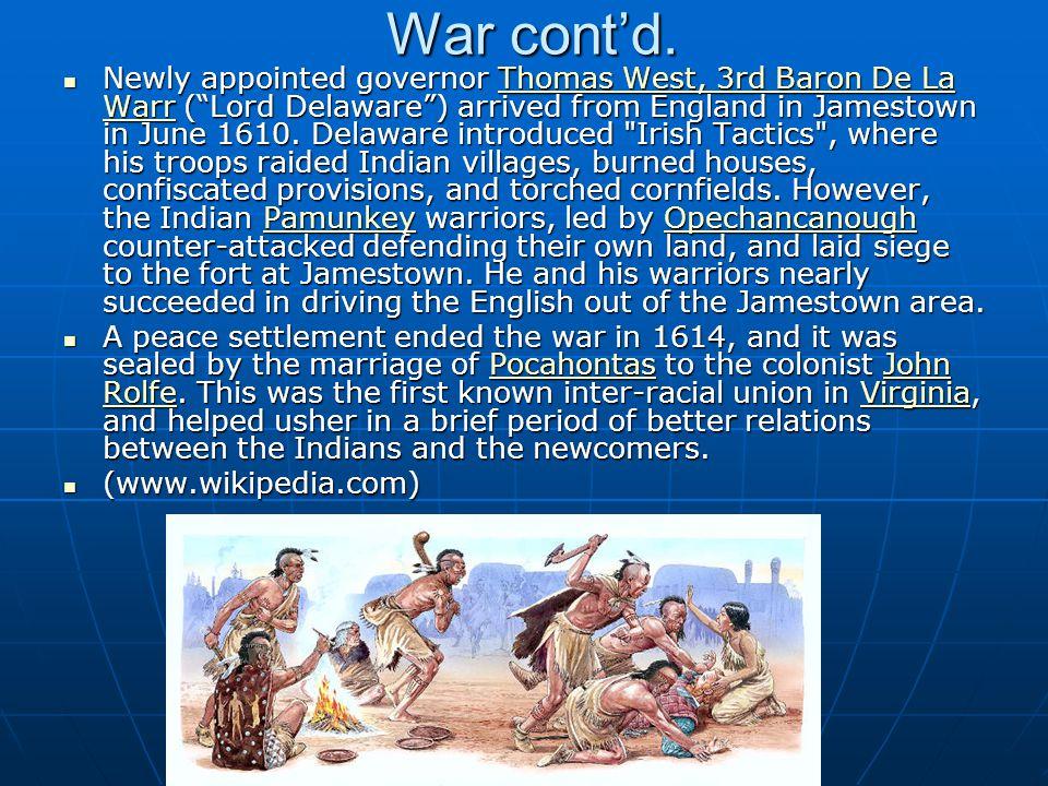 War cont'd.