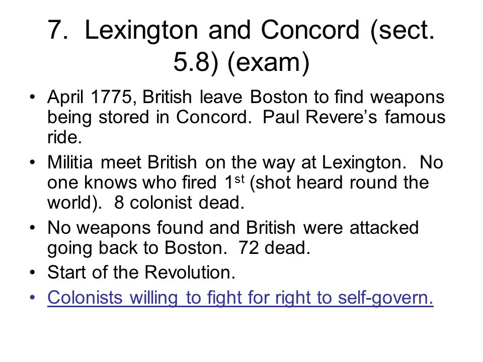 7.Lexington and Concord (sect.