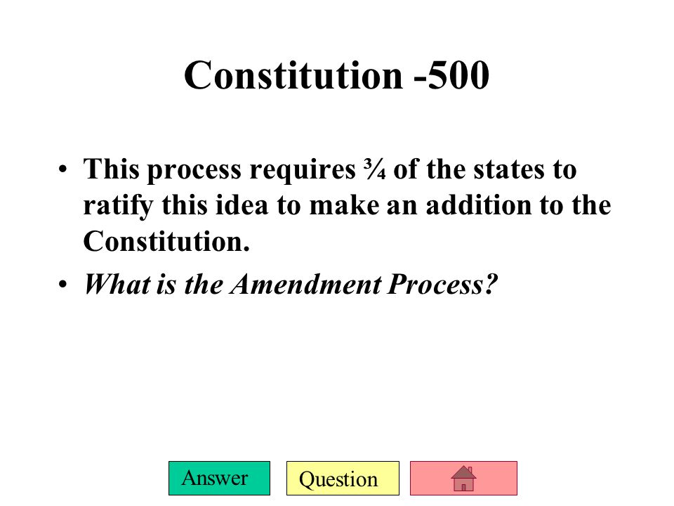Question Answer Constitution-400 Congress overriding the President's veto with 2/3 majority vote, the president appointing new members to the Supreme Court, and the Supreme Court declaring laws made by Congress unconstitutional are all examples of this constitutional principle.