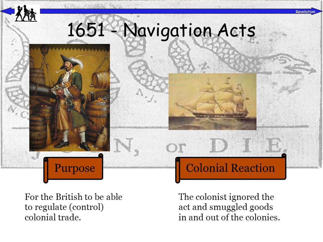 PurposeColonial Reaction Revolution 1754 – French & Indian War To gain control of the Ohio River Valley and protect the colonists .