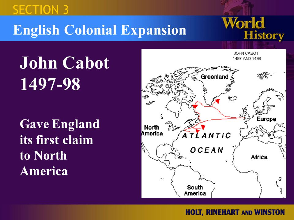 Israel and the Occupied Territories SECTION 3 Sea Dogs English sea captains under Queen Elizabeth I explorers & adventurers Sir Francis Drake Sir Walter Raleigh English Colonial Expansion