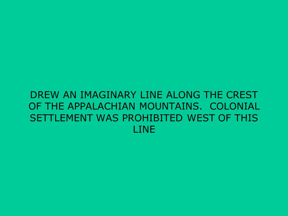 DREW AN IMAGINARY LINE ALONG THE CREST OF THE APPALACHIAN MOUNTAINS.