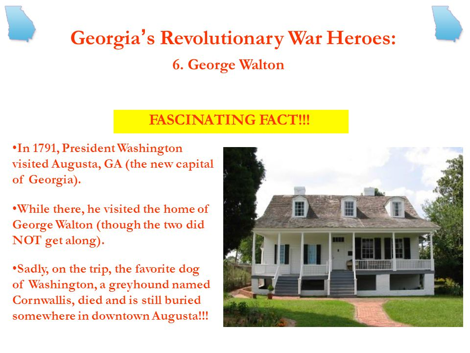 Georgia ' s Revolutionary War Heroes: 3. Nancy Hart -A six-foot tall, red head known as the Wauhatchie War Woman -According to legend, served as a Whi