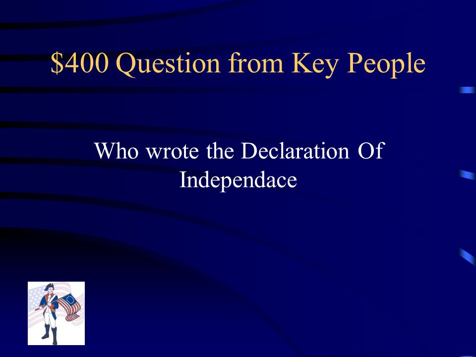 $300 Answer from Key People Samuel Adams