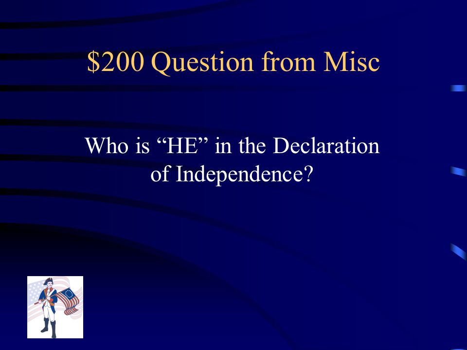 $100 Answer from Misc They joined the British, but stayed out of the war