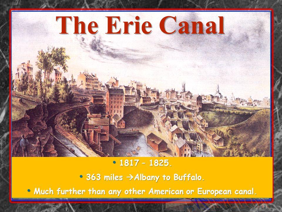 1817 – 1825. 1817 – 1825. 363 miles  Albany to Buffalo.