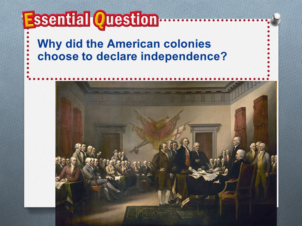 Colonial Leaders Emerge O May 10, 1775 at the Second Continental Congress NOT O Many were NOT ready to break with Britain O Many of the same delegates from the First Continental Congress O Also Ben Franklin- he had represented the colonies in London and helped repeal the act O John Hancock was also there- Hancock had funded the Sons of Liberty O Hancock was chosen president of the First Continental Congress O 32 year old Thomas Jefferson was also there