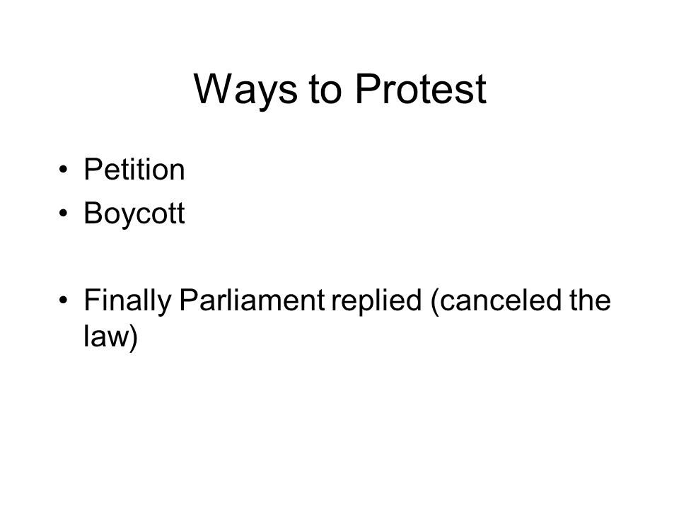 Ways to Protest Petition Boycott Finally Parliament replied (canceled the law)