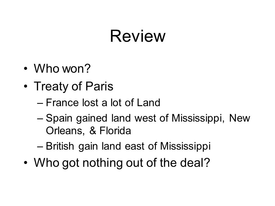 Review Who won.