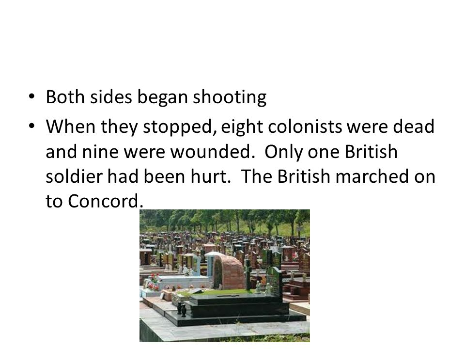 As the British searched Concord for hidden weapons, more minutemen gathered nearby.