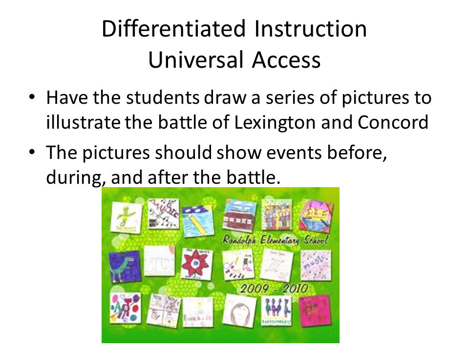 Independent Practice Divide the class into two groups half the class will pretend they are British soldiers and the other half will pretend they are Patriot Soldiers and they will write a letter home describing the after mass of the Battle of Lexington and Concord