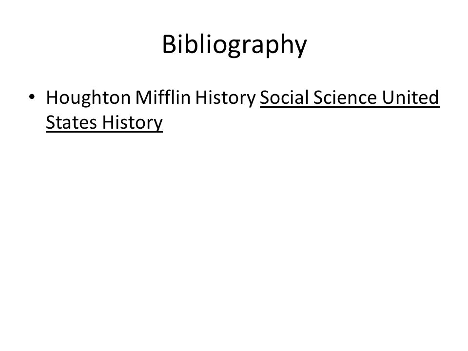 Bibliography Houghton Mifflin History Social Science United States History