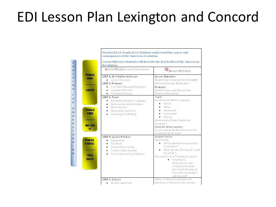 EDI Lesson Plan Lexington and Concord