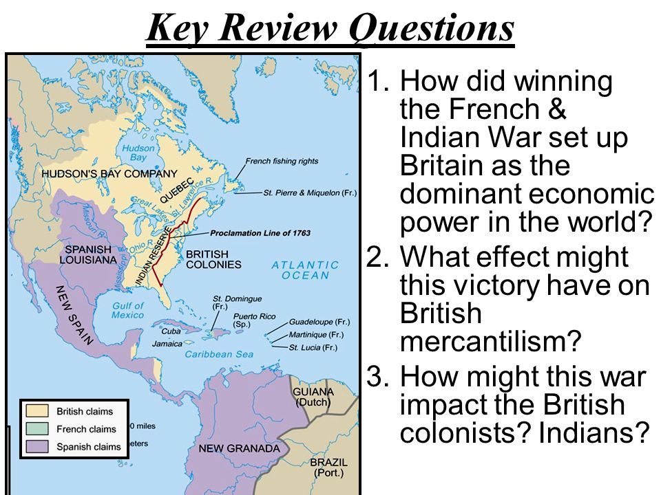 1754 America in 1754 1763 America in 1763 The Treaty Paris, 1763 The war officially ended with the Treaty of Paris in 1763 France lost Canada, most of