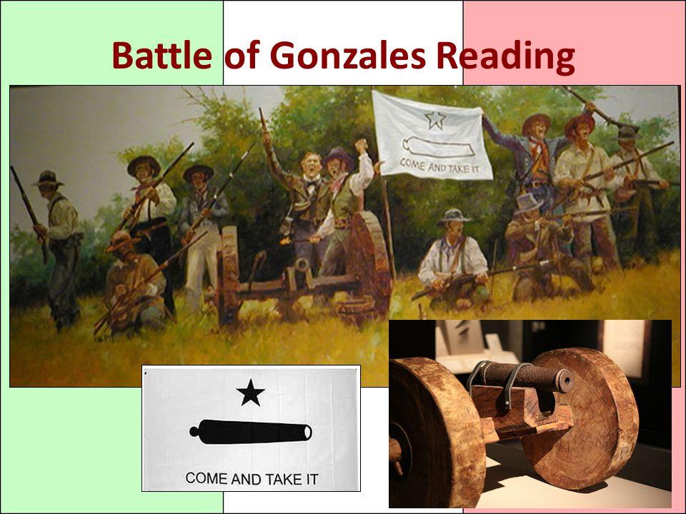 Battle of Gonzales Reading