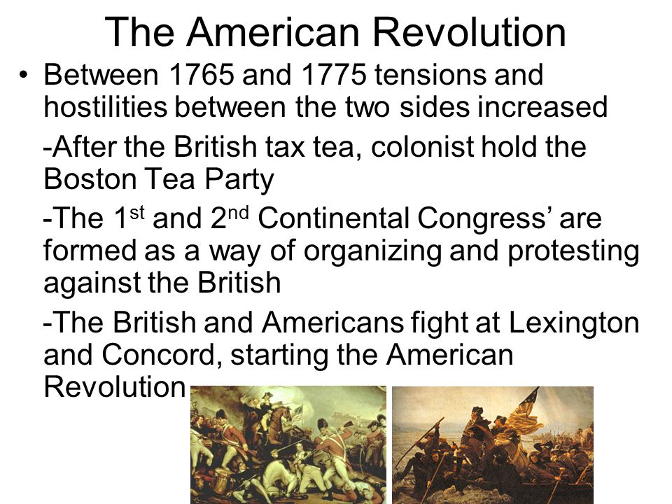 Results of the American Revolution The colonies formed a new, separate government Wrote the American Constitution Inspired other countries to revolt and form democracies Franklin and Jefferson become leaders of the American Enlightenment