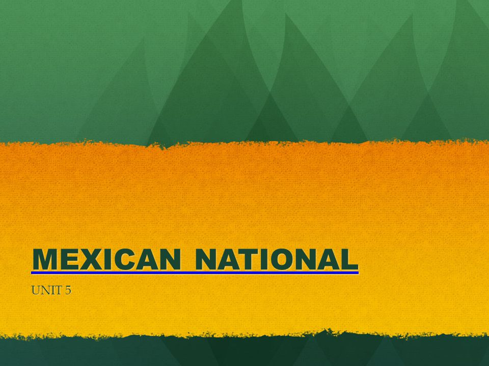 MEXICAN NATIONAL UNIT 5