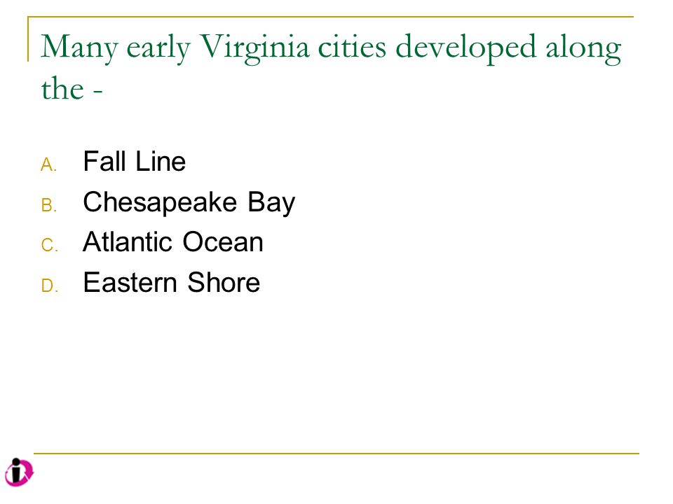Why are there so few cities along the Chesapeake Bay.