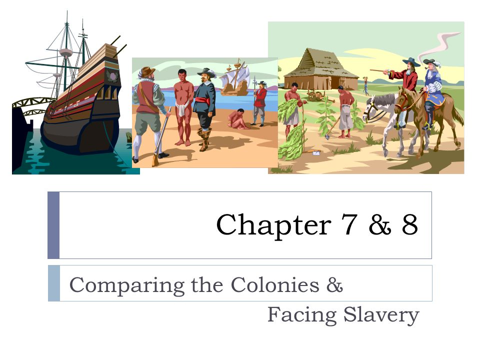 Chapter 8 – Facing Slavery  Brief overview – we will come back to this chapter later.