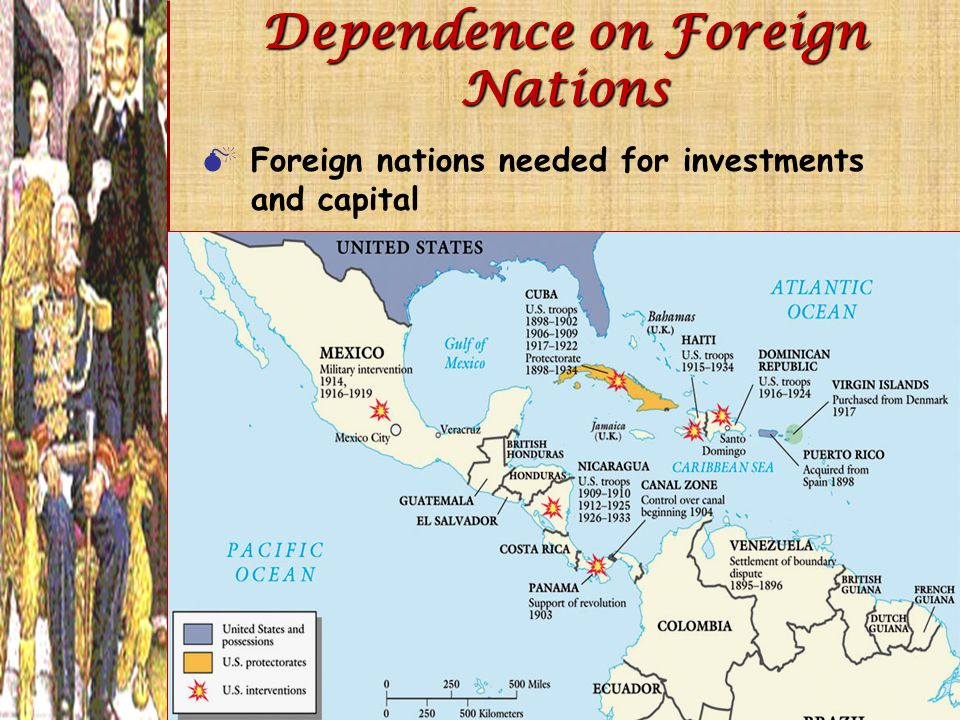 Dependence on Foreign Nations  Foreign nations needed for investments and capital
