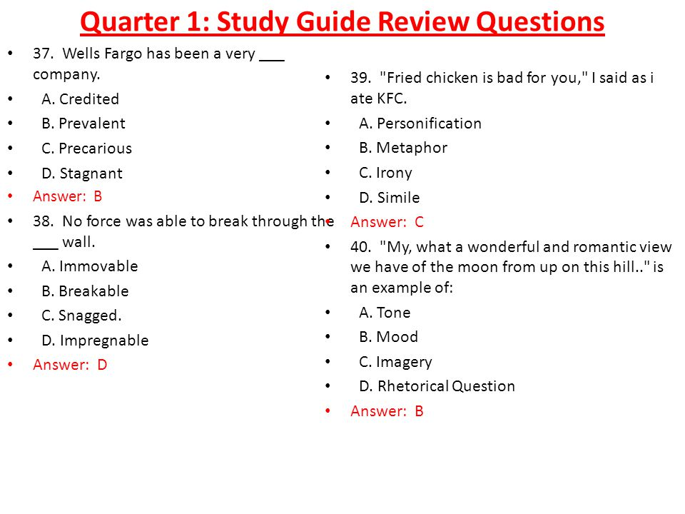 Quarter 1: Study Guide Review Questions 37. Wells Fargo has been a very ___ company.