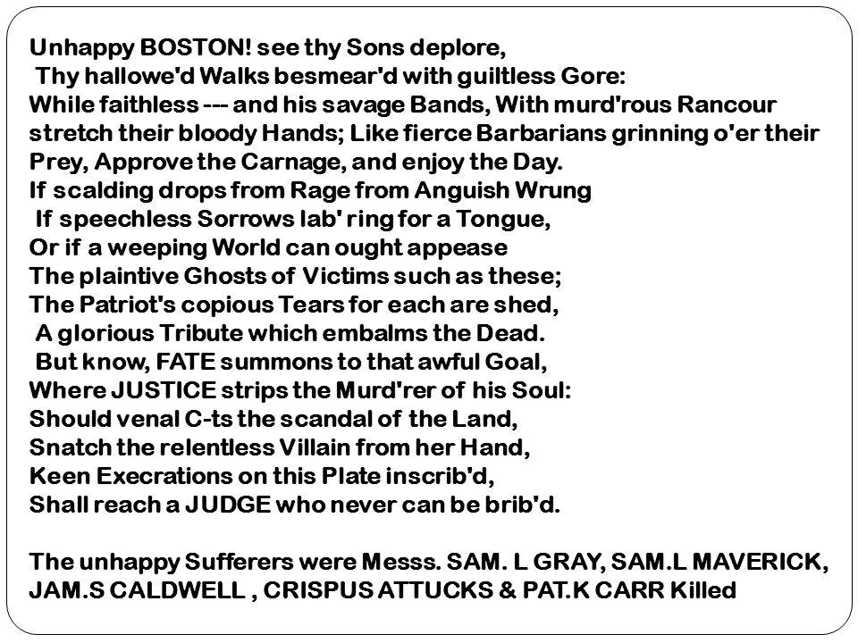 Unhappy BOSTON.