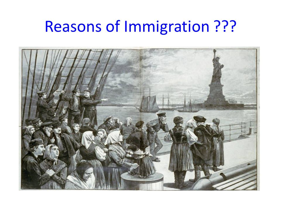 Reasons of Immigration ???