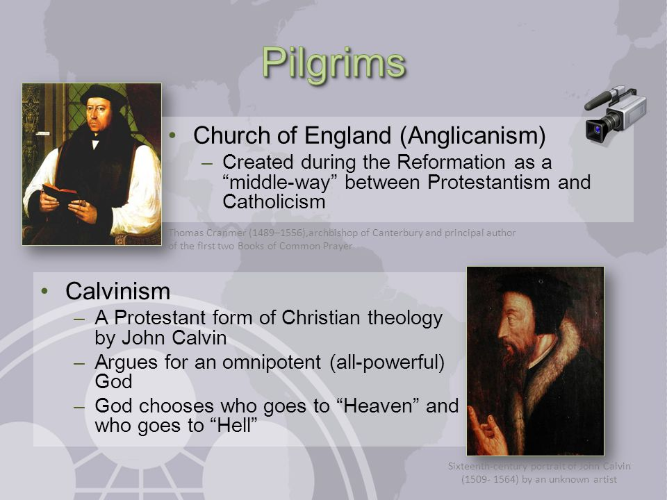Anglicanism + Calvinism + Primitivism = Puritans Primitivism (primitive + ism) – A consequence of the Protestant Reformation – The idea that the earliest (most primitive) form of Christianity is the correct form William Brewster (c.