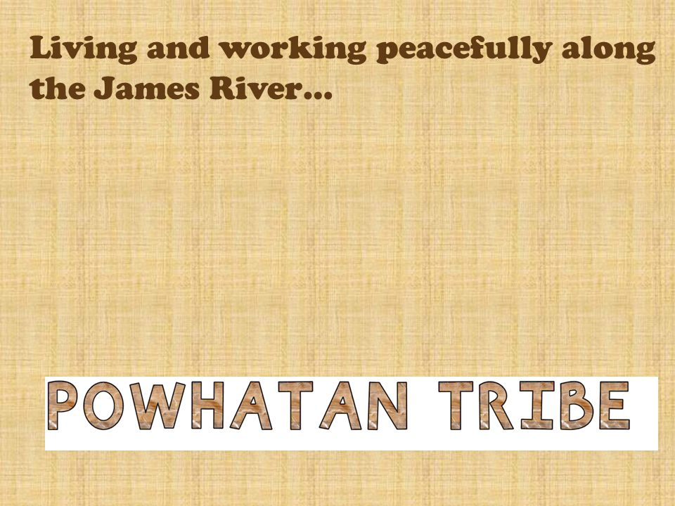 Living and working peacefully along the James River…