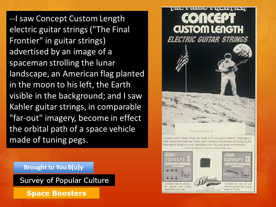 Space Boosters Brought to You B(u)y --I saw Concept Custom Length electric guitar strings (