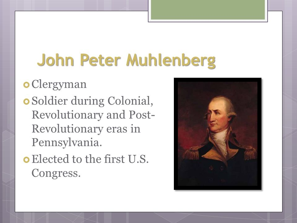 John Witherspoon  Active clergyman  New Jersey representative that signed the Declaration of Independence.