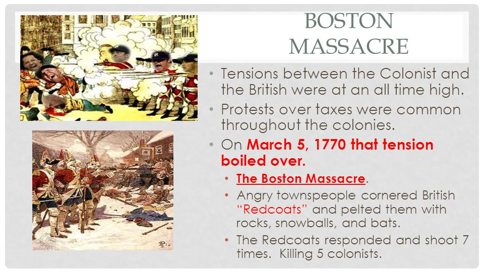 THE BOSTON TEA PARTY Another act was passed in 1773.