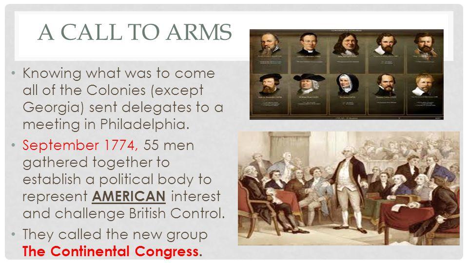 IMPORTANT DELEGATES John Adams Samuel Adams John Jay Richard Henry Lee Patrick Henry George Washington.