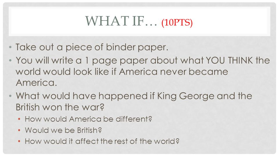QUIZ REVIEW QUESTIONS (16PTS) 1.What is the primary message of Thomas Paine's Common Sense.